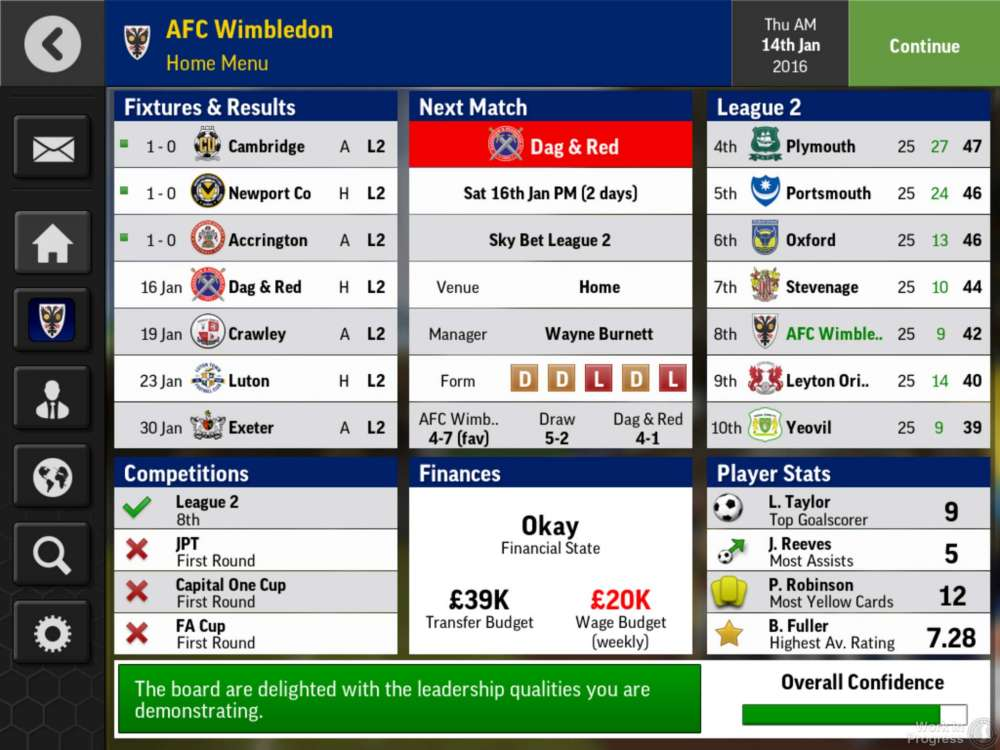 Football Manager Mobile Screens