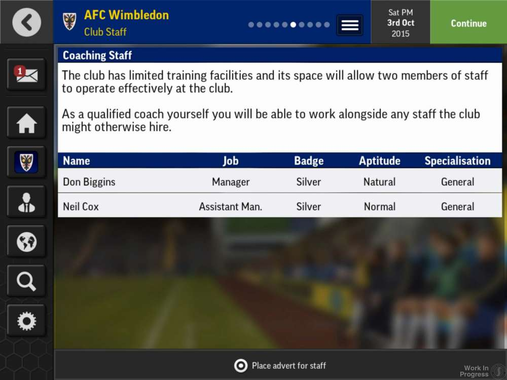 Football Manager Mobile Coaches
