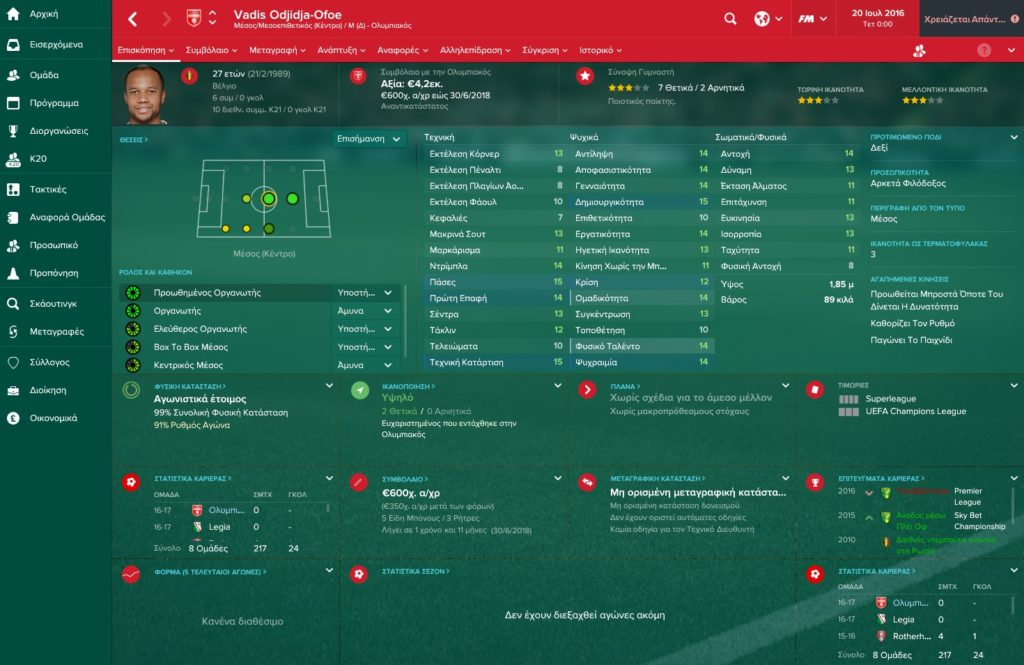 Ofoe Olympiakos Football Manager