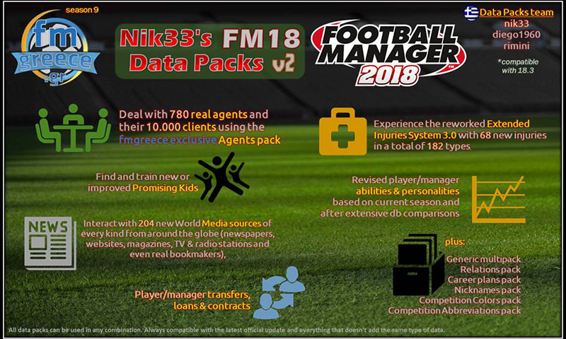 Nik33's FM18 Data Packs