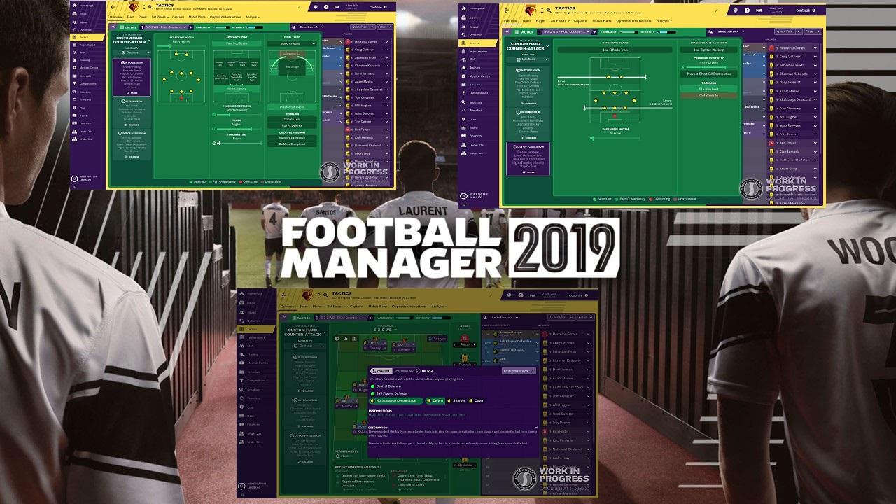 Football Manager 2019: Οι αλλαγές στον τομέα της τακτικής