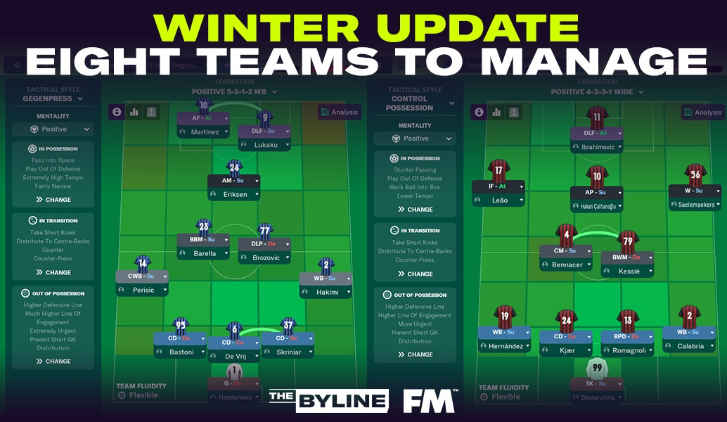 Οι 8 προτάσεις για νέο save μετά το winter update στο FM21!